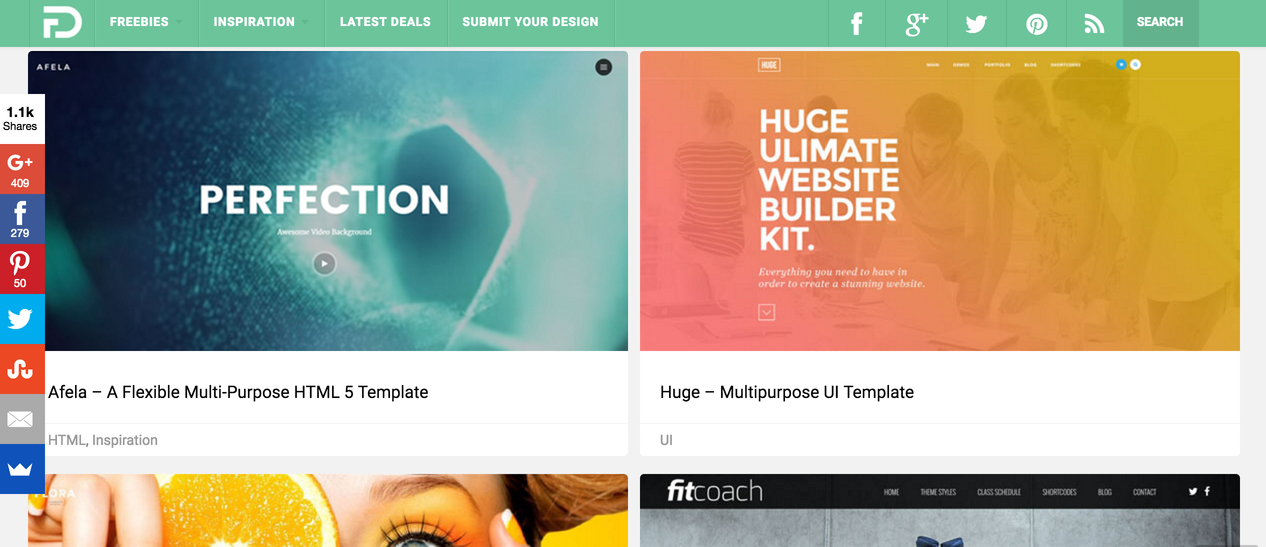 flat design inspiration gallery