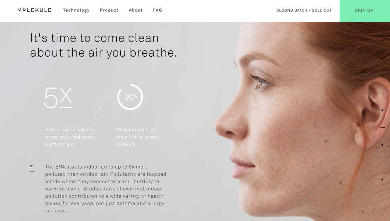 molekule clean web design