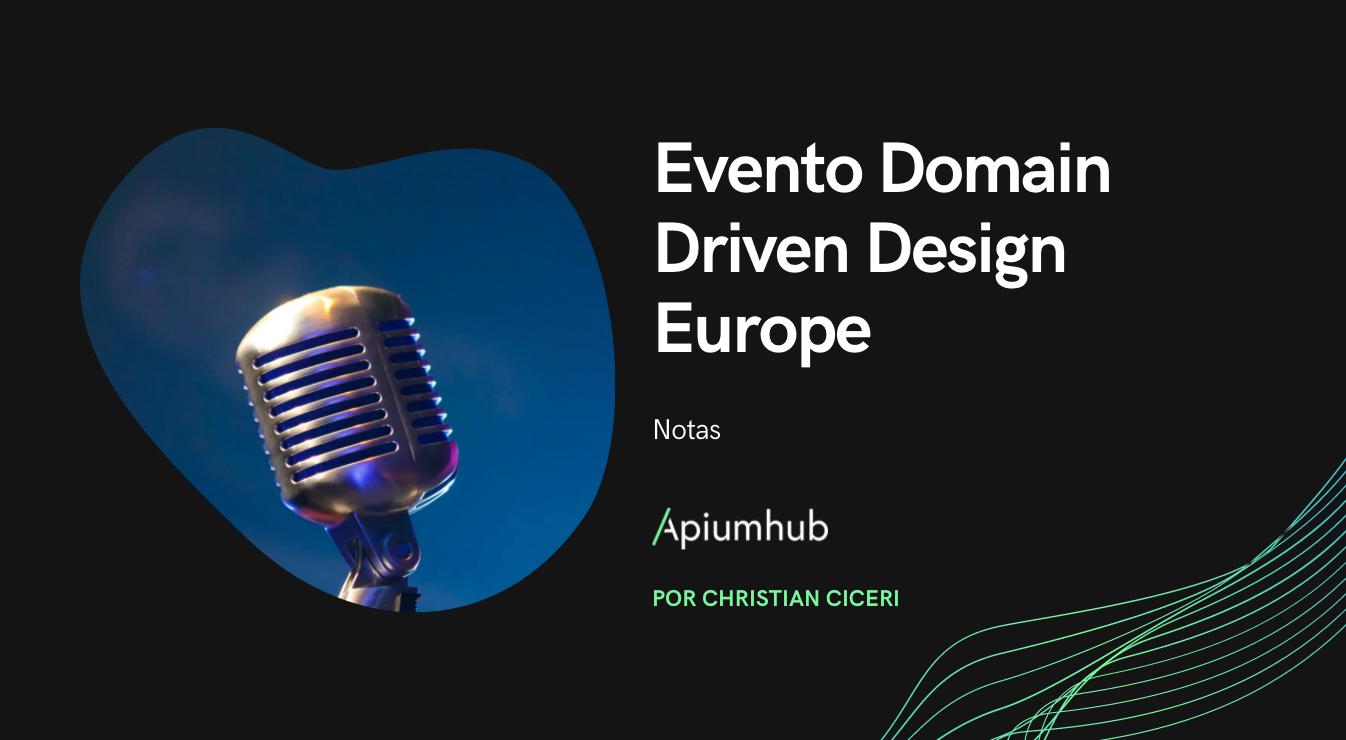 Evento Domain Driven Design Europe