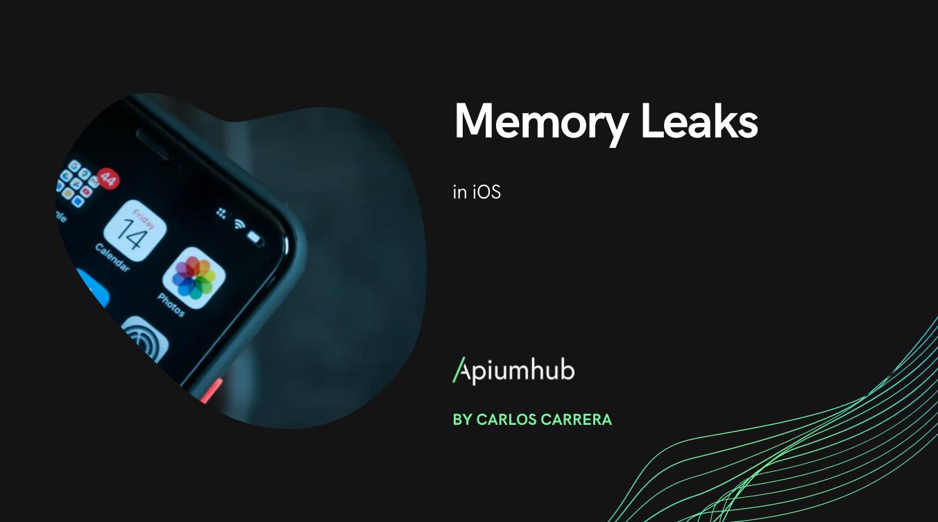 Memory leaks in iOS
