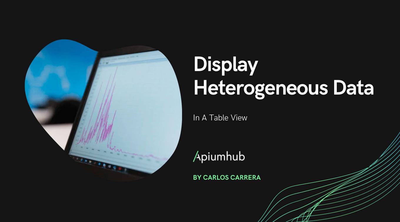 Display Heterogeneous Data