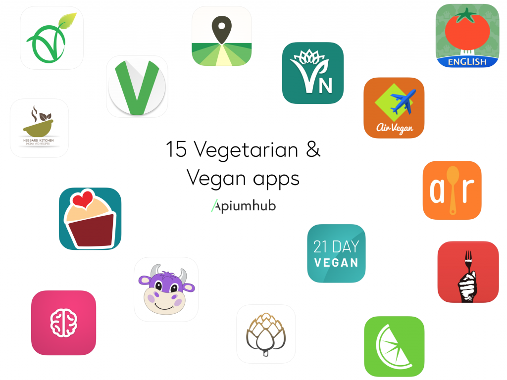 Vegetarian and Vegan Apps available on iOS and Android
