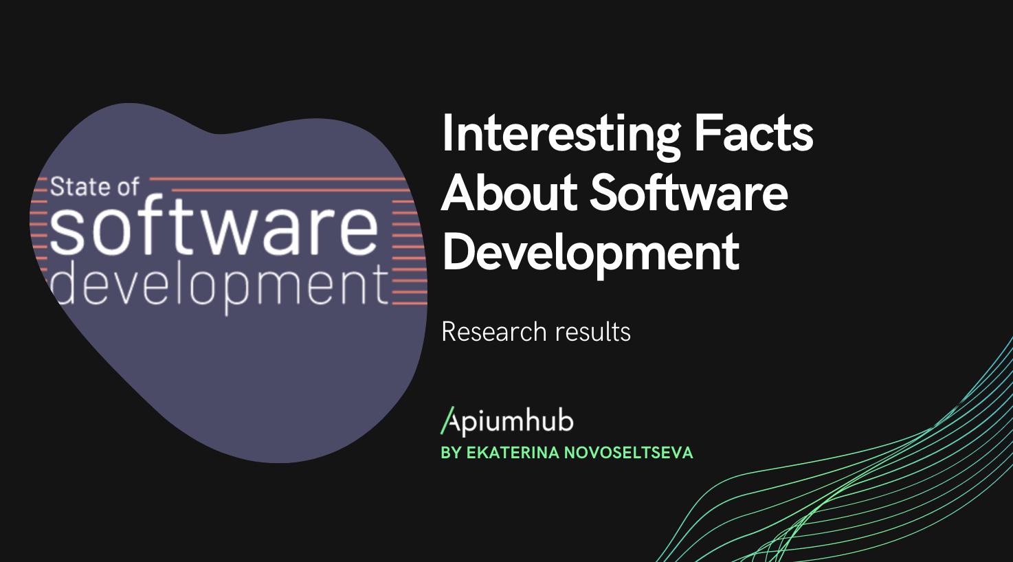 Interesting facts about software development: statistics