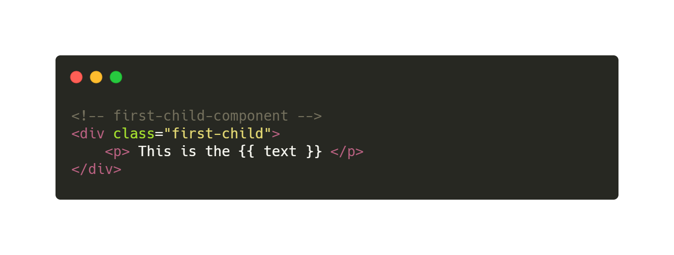 slots first child component