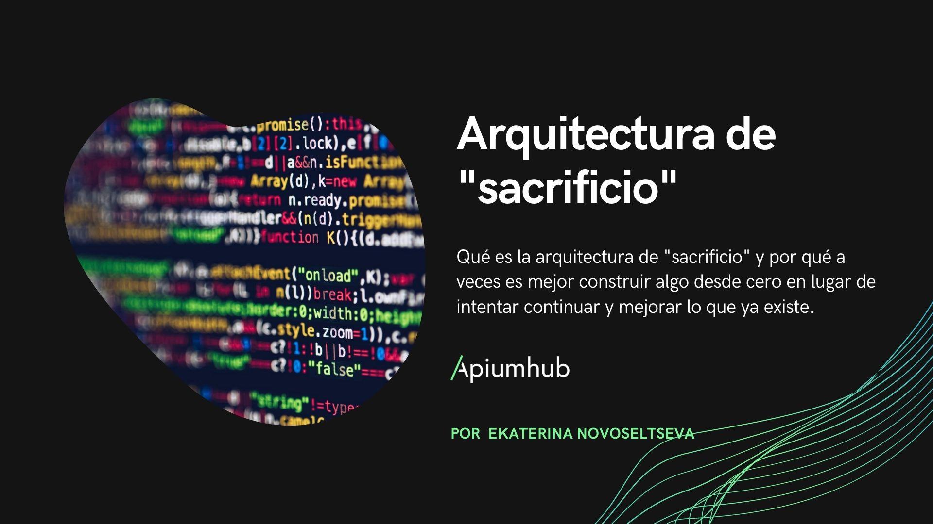 Arquitectura de sacrificio
